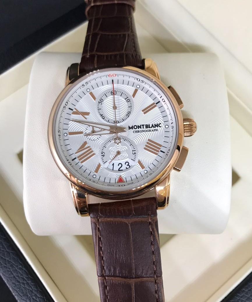 80740144396 Réplica de Relógio Mont Blanc - MB 16 Chronograph New