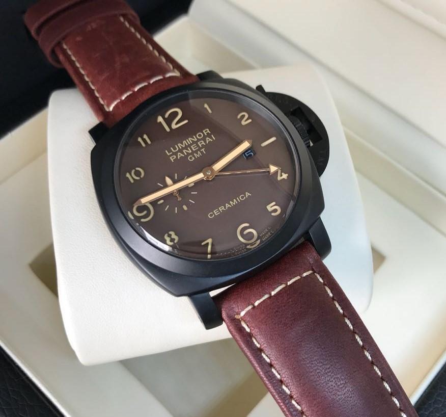 2a4b54f6e38 Réplica de Relógio Panerai - PN 14 Luminor GMT