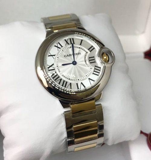 cf96f89c226 Réplica de Relógio Cartier – CT 18 Ballon Bleu Misto Dourado Menor