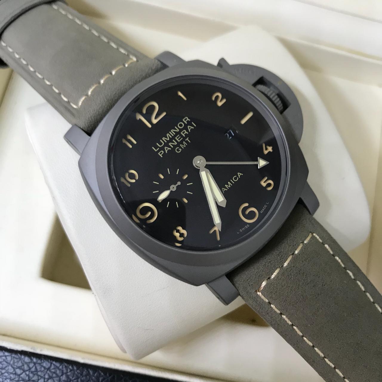 ed0c48a16ce Réplica de Relógio Panerai - PN 17 GMT Cerâmica