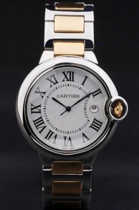 99f67ba5e19 Réplica de Relógio Cartier - CT 23 Ballon Bleu Misto Dourado Maior ...